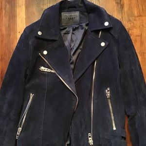 BLANK. NYC SUEDE JACKET GORGEOUS NAVY COLOR